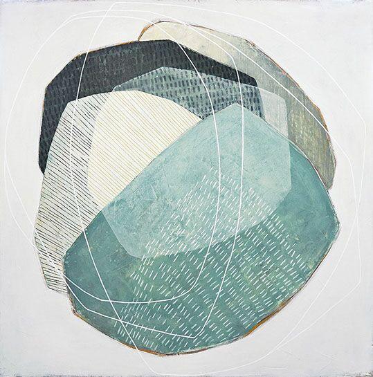 "Karine Leger, ""Keeping You Close 11"", 40""x40"", acrylic on canvas"