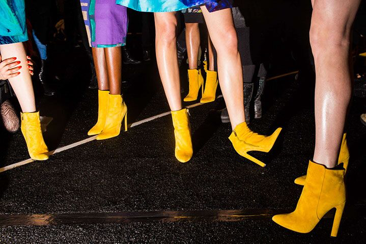 "Landon Nordeman, ""Desigual Yellow Boots"", archival pigment print"