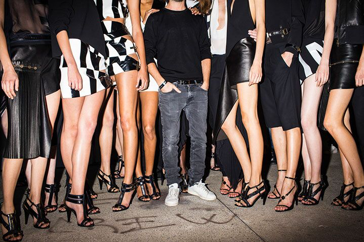 """Landon Nordeman, """"Anthony Vaccarello (with Models)"""", archival pigment print"""