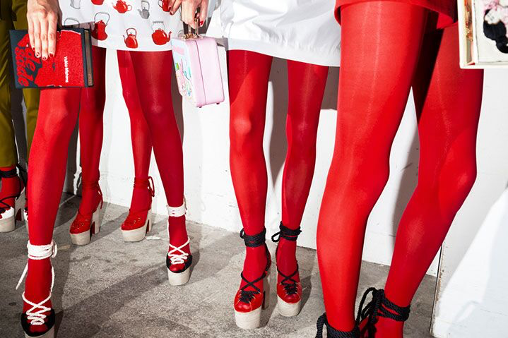 """Landon Nordeman, """"Olympia Le-Tan (Red Tights)"""", archival pigment print"""