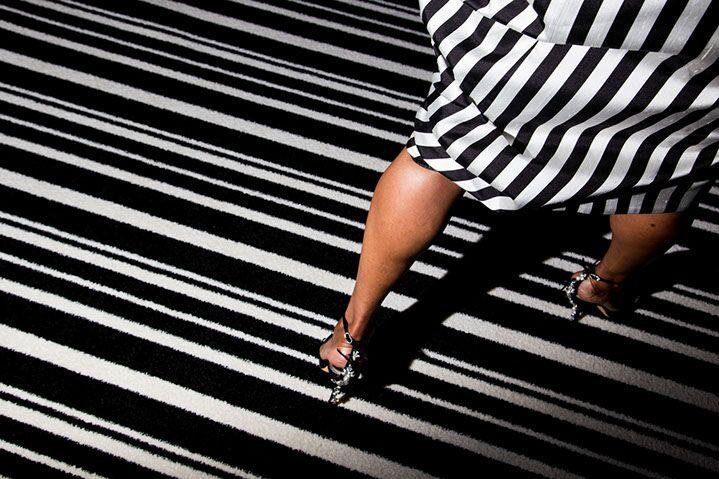 "Landon Nordeman, ""Giambattista Valli (Black and White Stripes)"", archival pigment print"