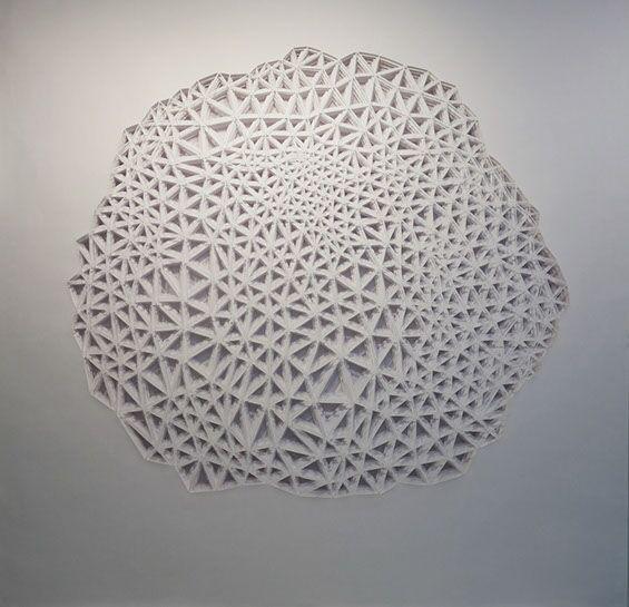 """Laura Alexander, """"Microcosm"""", 48""""x48"""", paper on foam board"""