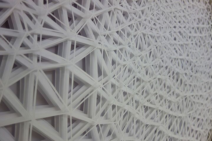 Laura Alexander, detail of previous piece, paper on foam board