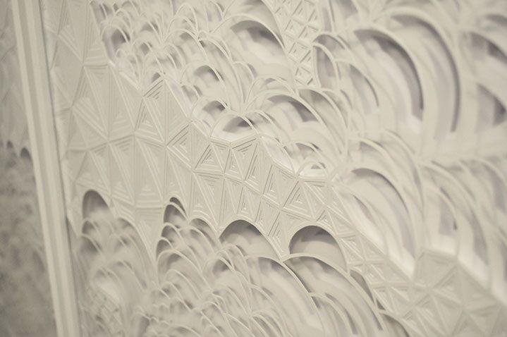 """Laura Alexander, """"Silence"""" (detail) paper on foam board"""