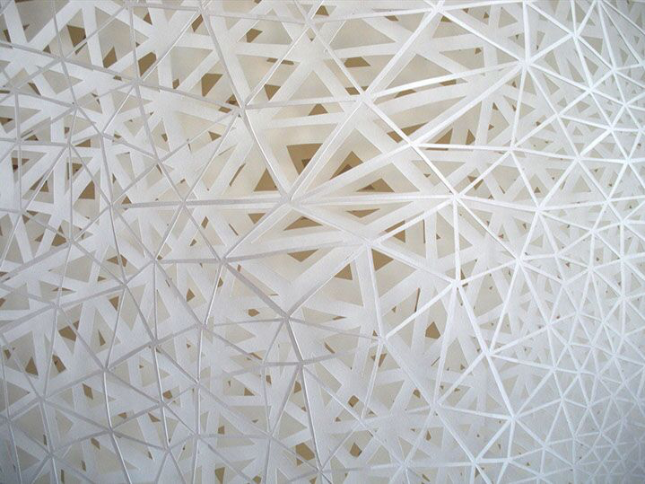 """Laura Alexander, """"Precipitous"""" (detail), four layers of hand cut paper"""