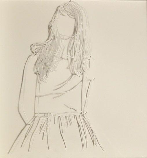 """Laura Alexander, """"Figure Study #8"""", 12""""x12"""", paper on foam board"""