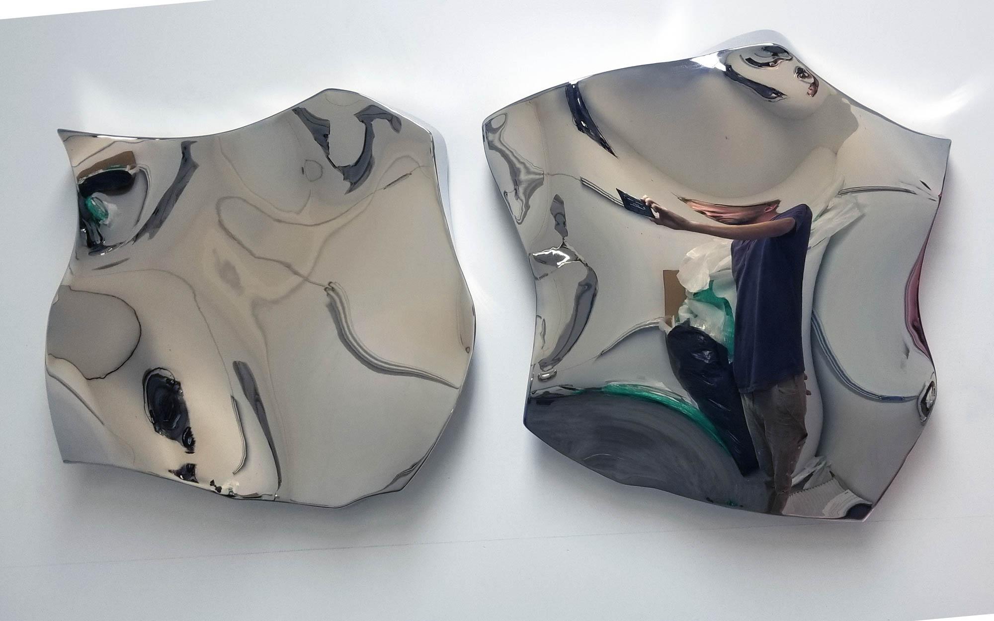 """Jon Krawczyk, """"Kraia"""", 44""""x22""""x3"""", polished stainless steel"""