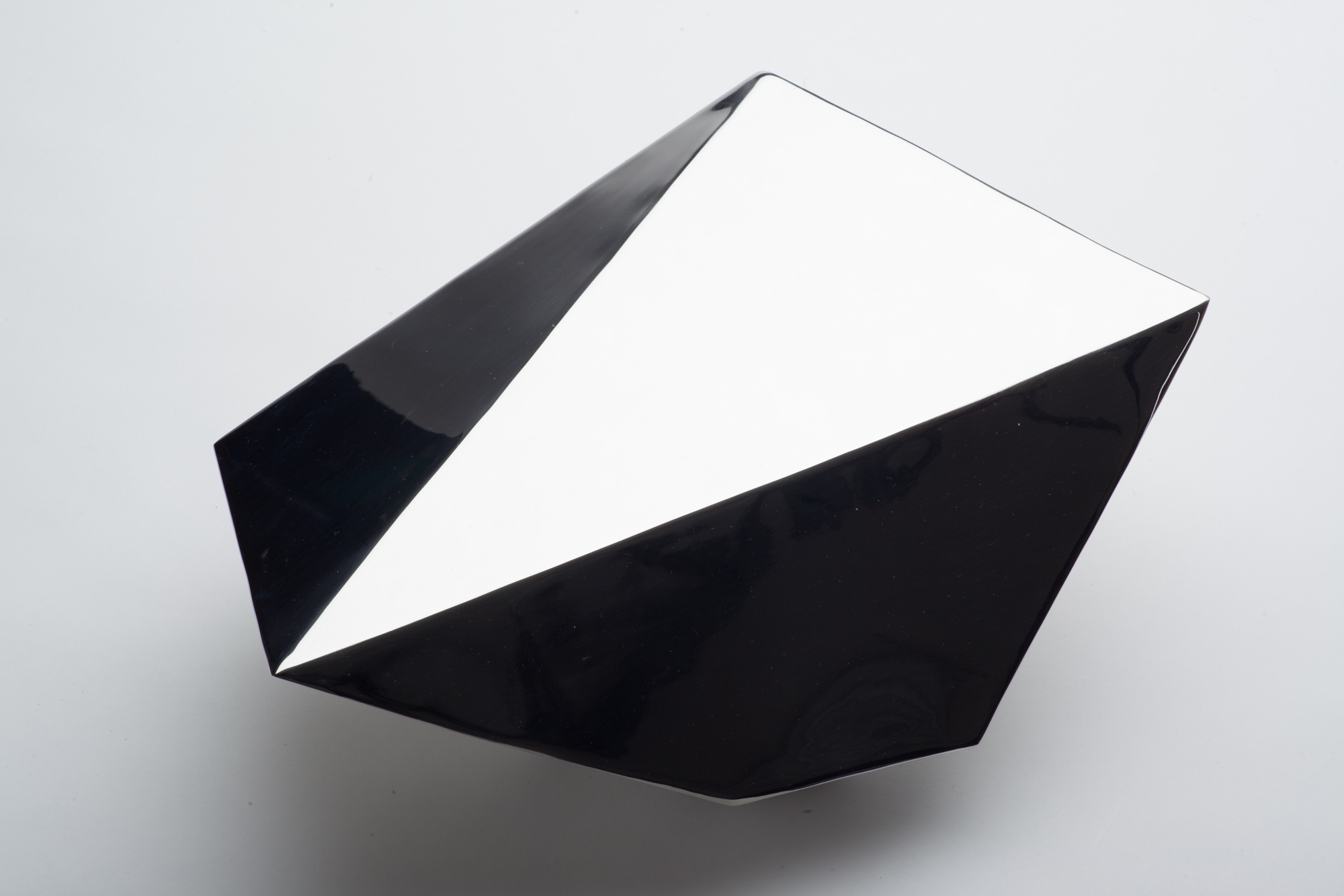 "Jon Krawczyk, ""Sculpted Boulder"", 36""x24""x20"", polished stainless steel"