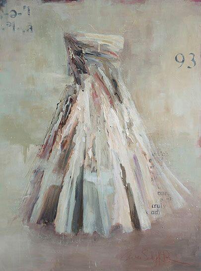 """Laura Schiff Bean """"Spoken in Silence"""", 48""""x36"""", oil on panel"""