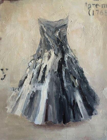 """Laura Schiff Bean """"Not Quite Black & White"""", 52""""x40"""", oil on panel"""
