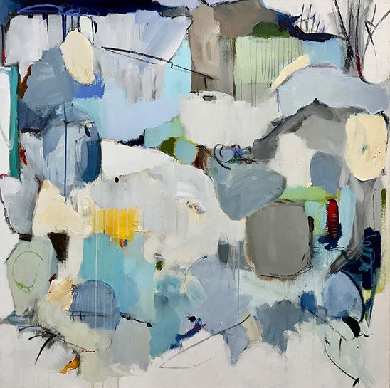"""Maria Burtis, """"At One Time or Another"""", 48""""x48"""", acrylic on canvas"""