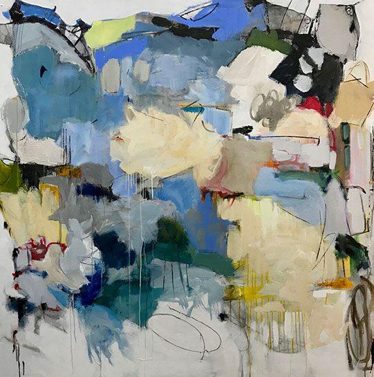 "Maria Burtis, ""Coming True"", 62""x62"", acrylic on canvas"