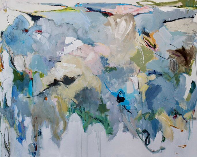 "Maria Burtis, ""Province"", 48""x60"", acrylic on canvas"