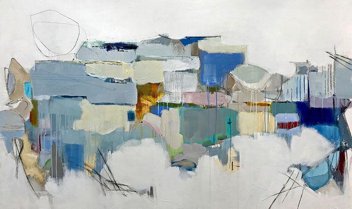 "Maria Burtis, ""Trestle"", 36""x60"", acrylic on canvas"