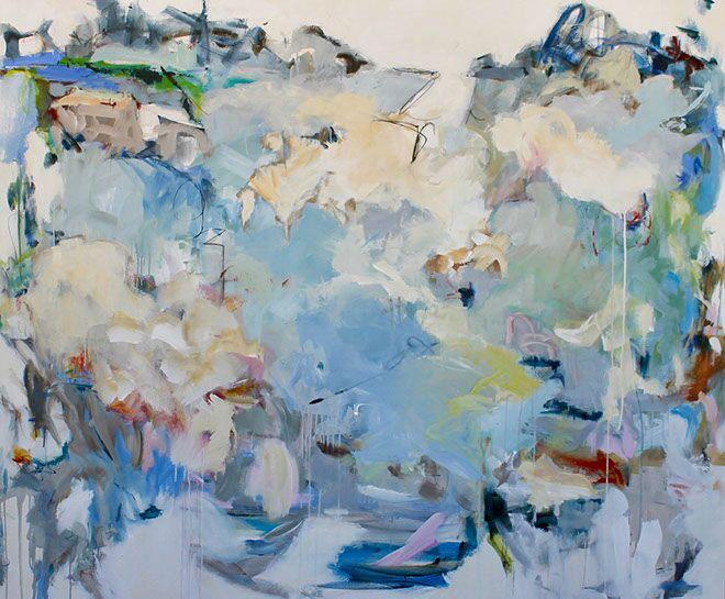"Maria Burtis, ""Survey"", 60""x72"", acrylic on canvas"