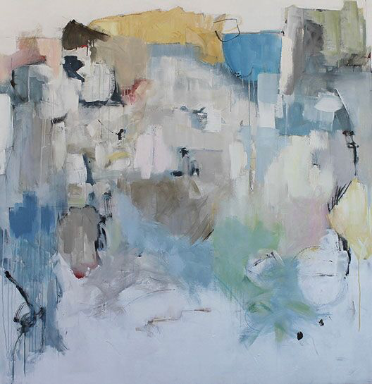 """Maria Burtis, """"At the Academy"""", 63.5""""x62"""", acrylic on canvas"""