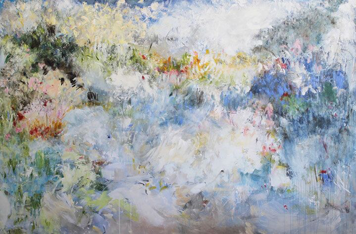 """Maria Burtis, """"While I Was Out"""", 48""""x72"""", acrylic on canvas"""