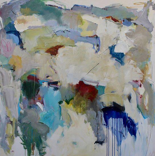 "Maria Burtis, ""Edge of Azure"", 60""x60"", acrylic on canvas"