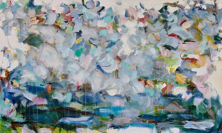 """Maria Burtis, """"Escapade"""", 36""""x60"""", acrylic on canvas"""
