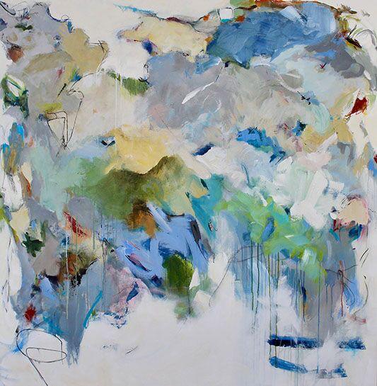 "Maria Burtis, ""Expansion"", 63.5""x62.5"", acrylic on canvas"