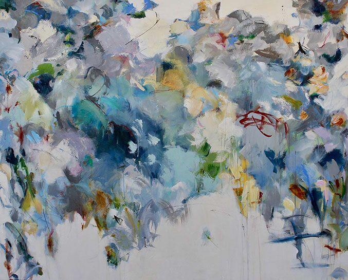 "Maria Burtis, ""Gray Countenance"", 48""x60"", acrylic on canvas"