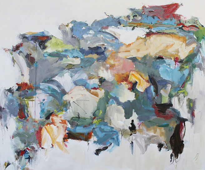 """Maria Burtis, """"Partial Map"""", 60""""x72"""", acrylic on canvas"""