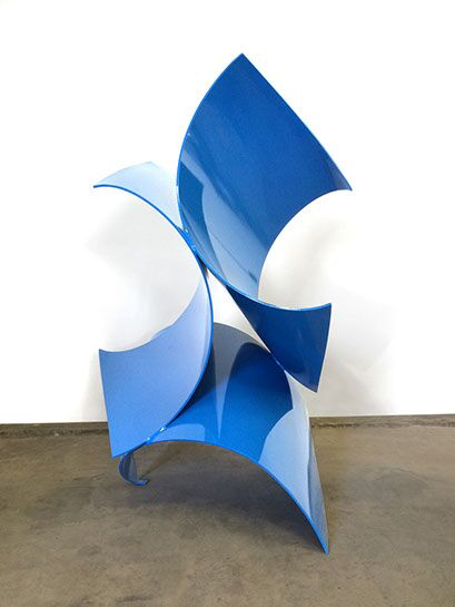 "Matt Devine, ""Three of a Kind, 2015"", 75""H x 50""W x44"" D, steel with powder coat paint"