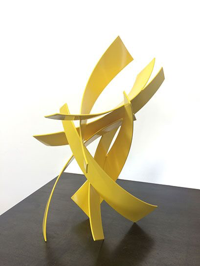 "Matt Devine, ""Maybelle Study"", 19""H x 12""W x 8"" D, steel with powder coat paint"