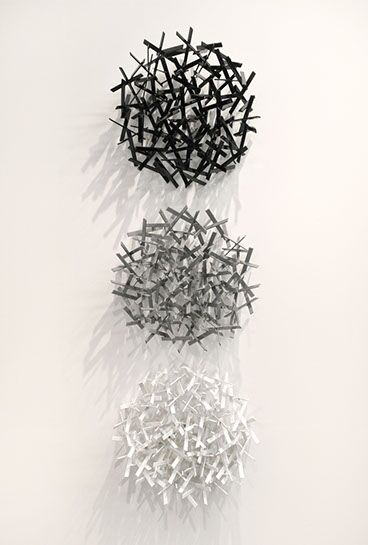 "Matt Devine, ""Not Fade Away"", 58""H x 18""W x 6"" D, steel with powder coat paint"