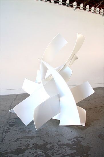 "Matt Devine, ""One Nine One"", 79""x78""x55"", steel with powder coat paint"