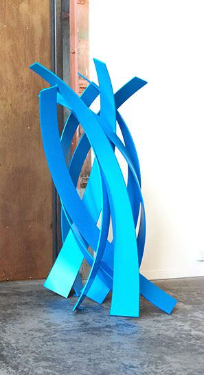 "Matt Devine, ""Four Times Four"", steel with powder coat paint"