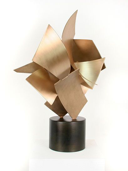 "Matt Devine, ""Big Top #6"", 25""x15""x15"", bronze, steel base"