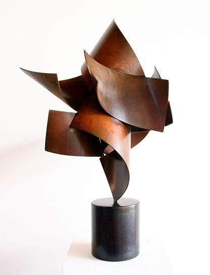 "Matt Devine, ""Big Top #3"", 31""x19""x16"", steel with patina"