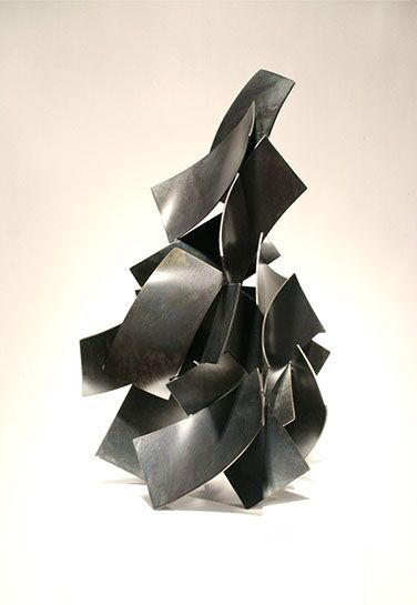 "Matt Devine, ""Amble"", 29""x16""x12"", steel with patina"