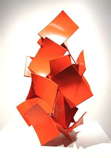 "Matt Devine, ""First Crush"", 23""x13""x12"", steel with powder coat paint"