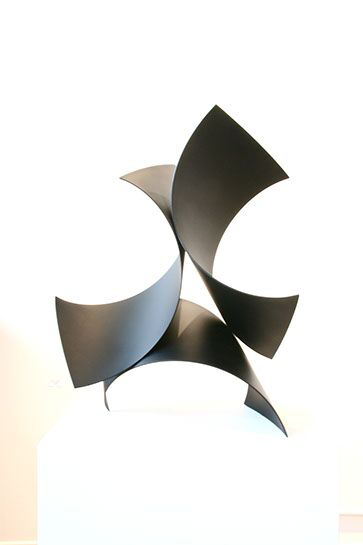 "Matt Devine, ""Three of a Kind #6"", 17""x24""x13"", steel with patina"