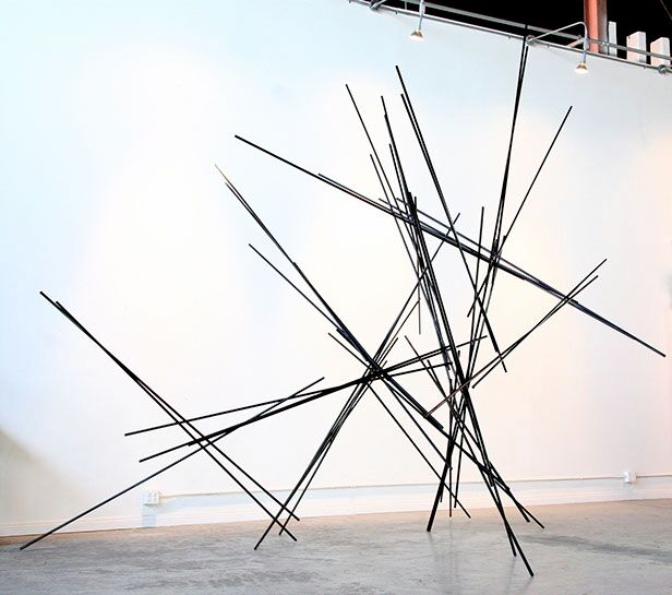 "Matt Devine, ""Pick Me Up"", 144""x165""x160"", steel"