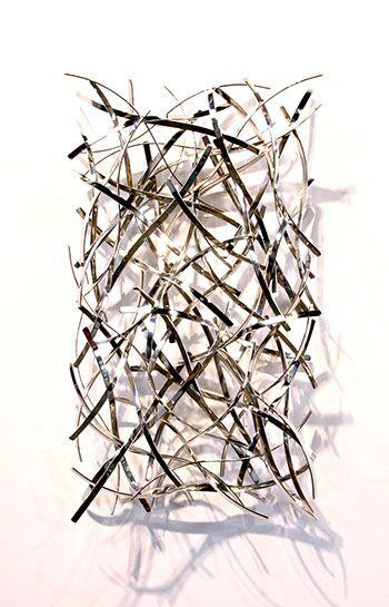 "Matt Devine, ""Chrome 1"", 32""x18""x6"", steel with chrome finish"