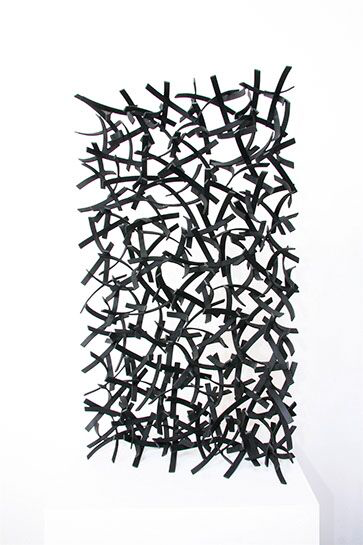 "Matt Devine, ""Queleas #1"", 32""x118""x6"", steel with powder coat paint"