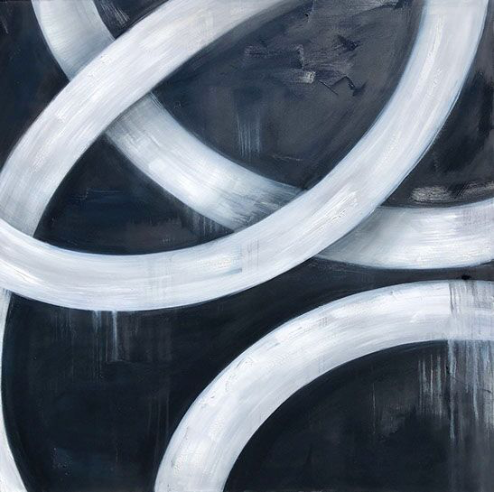 """Monika Steiner, """"Yang"""", 48""""x48"""", oil on canvas"""
