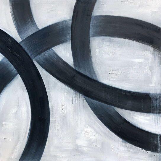 "Monika Steiner, ""Yin"", 48""x48"", oil on canvas"