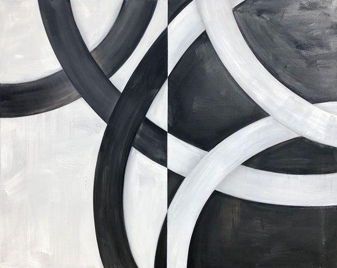 "Monika Steiner, ""Duality"", 48""x60"", oil on canvas"