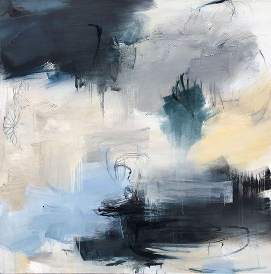 """Monika Steiner, """"Essential"""", 48""""x48"""", oil on canvas"""