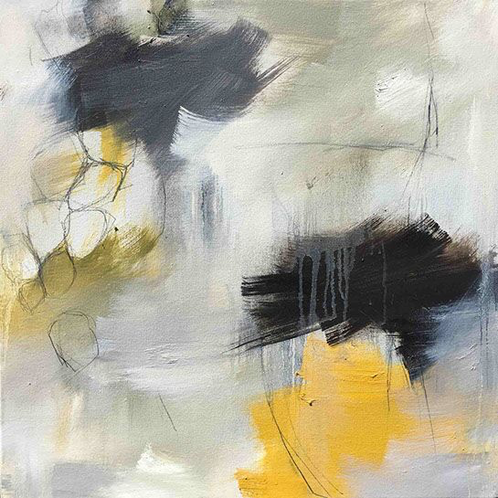 "Monika Steiner, ""Alive III"", 24""x24"", oil on panel"