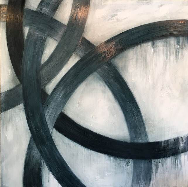 "Monika Steiner, ""Section"", 50""x50"", oil on panel"