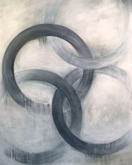 "Monika Steiner, ""Hazy"", 60""x48"", oil on panel"