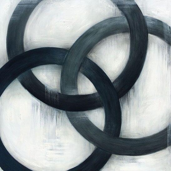 """Monika Steiner, """"One"""", 60""""x60"""", oil on panel"""