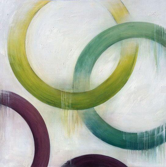 """Monika Steiner, """"Union"""", 50""""x50"""", oil on panel"""
