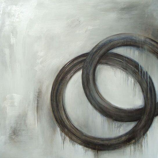 """Monika Steiner, """"Resonance"""", 36""""x36"""", oil on panel"""