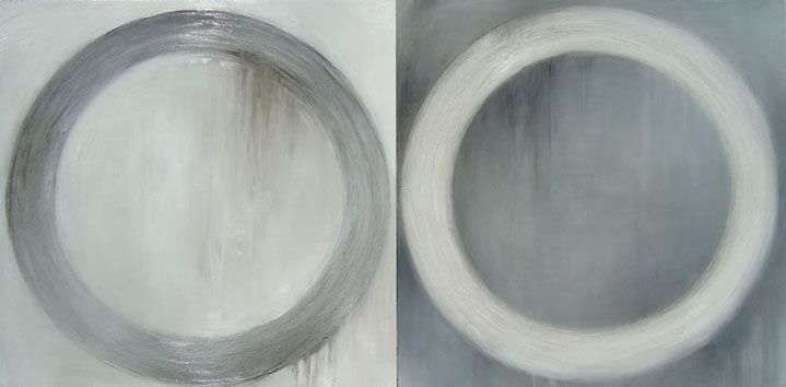 "Monika Steiner, ""Reflection"", 30""x60"", oil on panel"